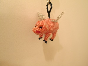 flying pig on key chain 2